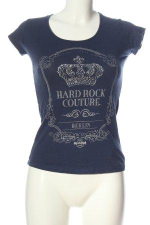 Hard Rock Couture Print-Shirt blau-weiß Schriftzug gedruckt Casual-Look