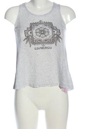 Hard Rock Couture Print-Shirt hellgrau meliert Casual-Look