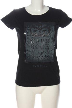 Hard Rock Couture T-Shirt schwarz Schriftzug gedruckt Casual-Look