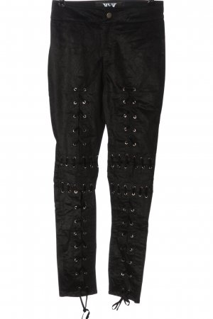 hardware ldn Corduroy Trousers black striped pattern casual look