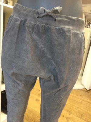 Made in Italy Pantalone alla turca grigio chiaro-oro