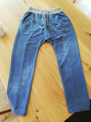 Pantalone alla turca blu Cotone