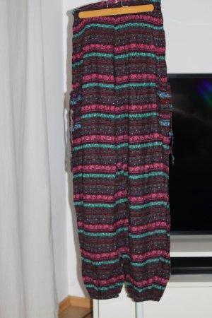 Pantalón estilo Harem violeta amarronado
