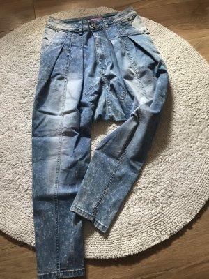 Pantalone alla turca azzurro-bianco