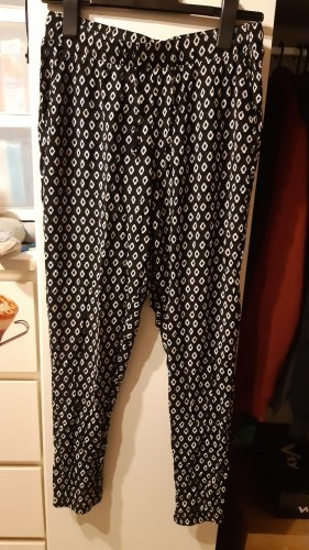 Blue Motion Pantalón estilo Harem blanco-negro