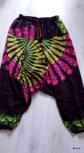 Aus Indien Pantalón estilo Harem multicolor Algodón