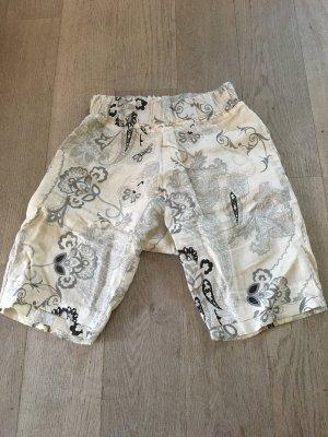 Pantalón estilo Harem crema-negro
