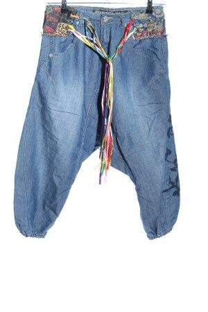 Pantalón estilo Harem azul look Street-Style