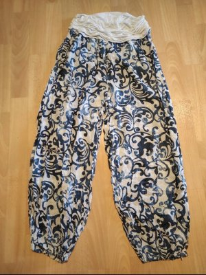 Colloseum Pantalón estilo Harem blanco-azul