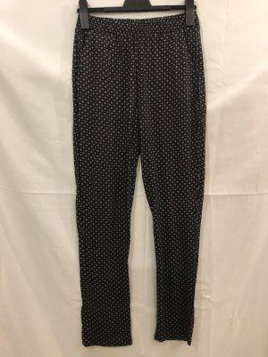 H&M Pantalone culotte nero-bianco