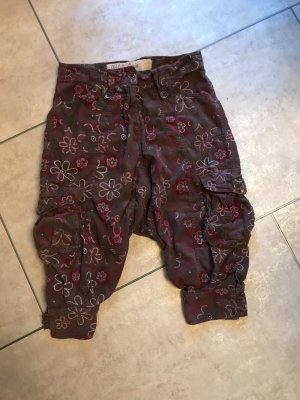 Old Cotton Cargo Harem Pants multicolored