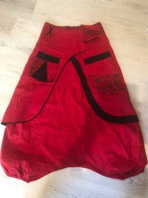 Coline Pantalón estilo Harem negro-rojo