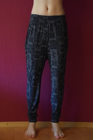 H&M Basic Pantalone alla turca blu scuro Viscosa