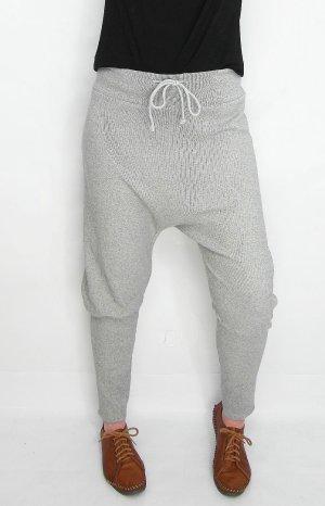 Pantalone alla turca grigio chiaro Cotone