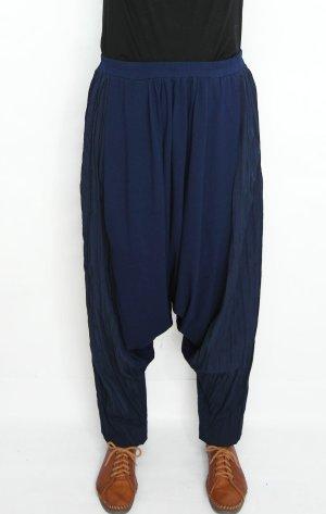 Pantalone alla turca blu scuro Cotone