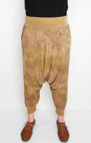 Pantalone alla turca marrone chiaro-color cammello Cotone