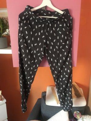 Pantalone alla turca nero-bianco