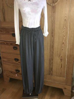 Italy Moda Pantalón estilo Harem gris oscuro Viscosa