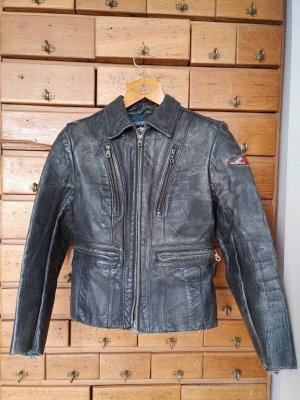 Harley Davidson Leather Jacket black-dark blue