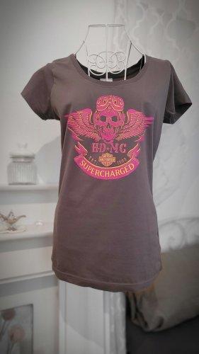 Harley Davidson Print Shirt grey brown