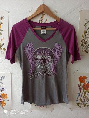 Harley Davidson Print Shirt grey-dark violet