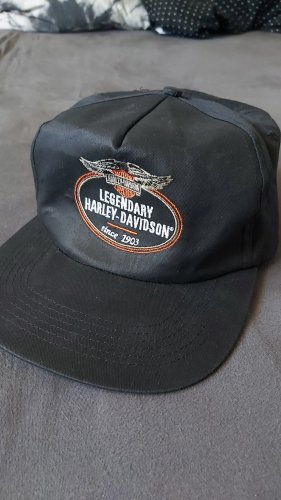 Harley Davidson Platte pet zwart