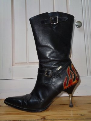 Harley Davidson Biker Boots multicolored leather
