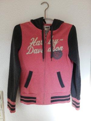 Harley Davidson Felpa con cappuccio grigio-rosa pallido