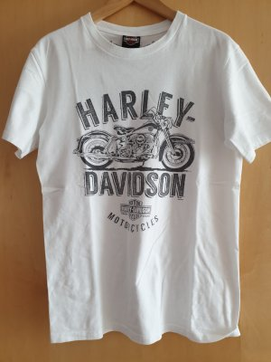 Harley Davidson T-Shirt white-silver-colored