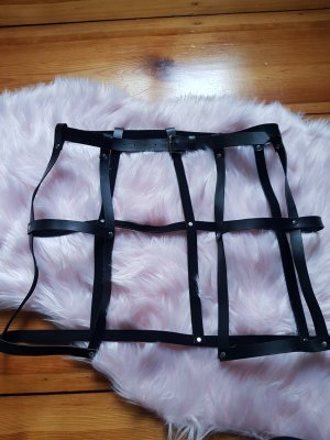 Punk Rave Cinturón de cadena negro