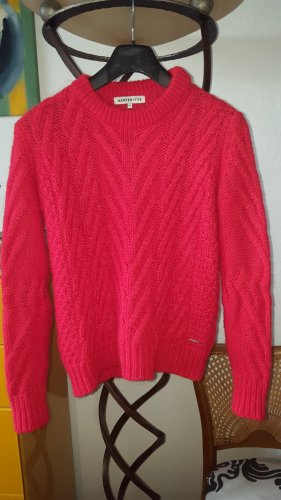 Wool Sweater brick red-red mixture fibre