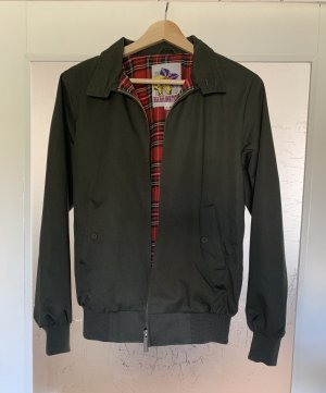 Giacca bomber verde scuro-rosso Poliestere