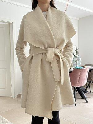 Harris Wharf London 100% Wolle Mantel Weiß Gr.36