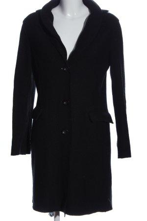 Harris Wharf London Płaszcz z dzianiny czarny W stylu casual