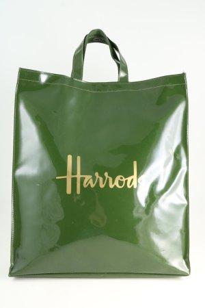 Harrods Torba shopper zielony-złoto Wydrukowane logo W stylu casual