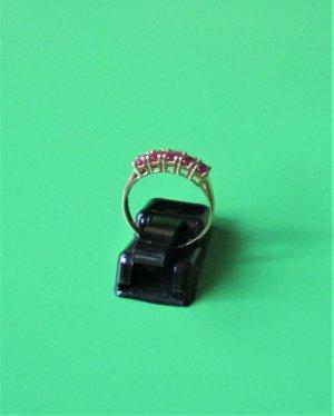 Harry Ivens Złoty pierścionek złoto-purpurowy Tkanina z mieszanych włókien
