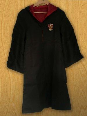 Hooded Coat black-dark red