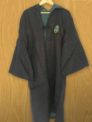 Hooded Coat black-cadet blue