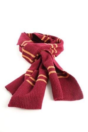 Harry Potter Strickschal rot-hellorange Streifenmuster Casual-Look