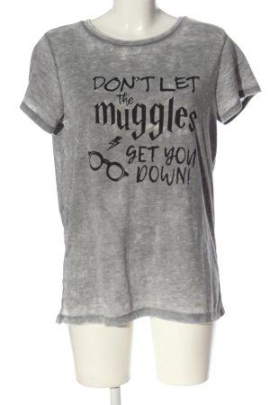 Harry Potter T-Shirt hellgrau meliert Casual-Look