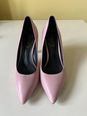 Harson Echtleder Pumps Gr 39 rosa