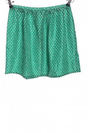 Hartford Zijden rok groen-wolwit gestippeld patroon casual uitstraling
