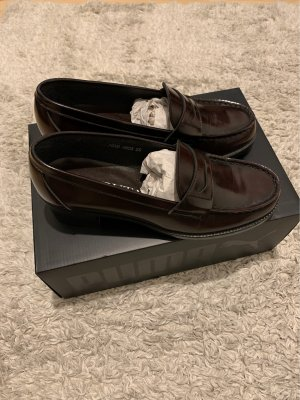 Slippers dark brown-bordeaux leather
