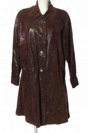 Harvest Leather Coat brown casual look