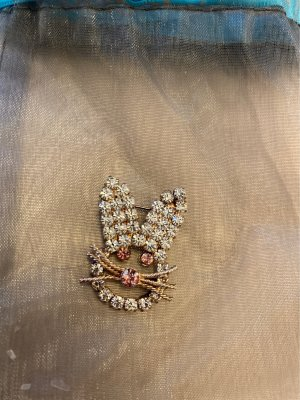 / Brooch silver-colored-pink