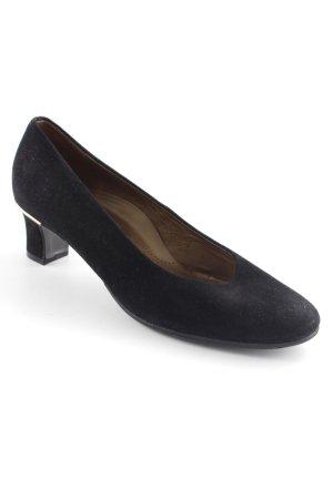 Hassia High Heels schwarz-goldfarben schlichter Stil
