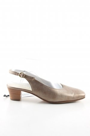 Hassia Slingback-Pumps goldfarben Business-Look