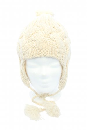 Hat attack Lapland Hat cream cable stitch casual look