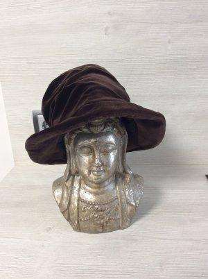 The Hat Company Chapeau feutre brun noir