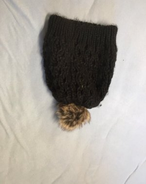 New Yorker Knitted Hat black-bronze-colored